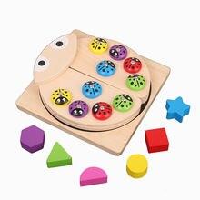 Детские магнитные рыболовные игрушки набор Магнитные деревянные