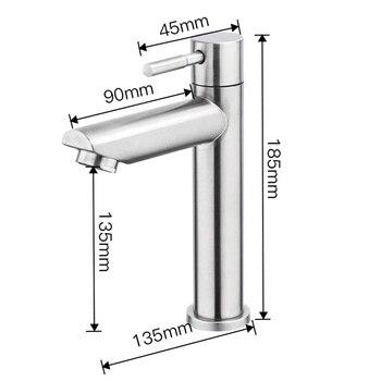 Grifo de fregadero, grifo de baño de acero inoxidable resistente a la corrosión, grifo de un solo orificio refrigerado, accesorios para grifos de lavabo