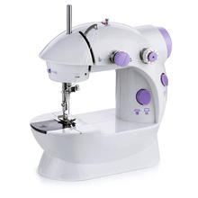 portable multifunction desktop mini electric sewing machine with light cutter small household appliances eat thick needle feed 2 Colors Handheld Sewing Machine Pink Purple ABS Electric Mini Desktop Single Needle Portable Small Mini Sewing Machine Home Use