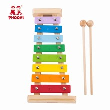 Children Wooden Xylophone Toy Rainbow Baby Educational Musical Instrument Percussion Toy For Kids PHOOHI