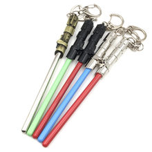 5 Color New Star Wars Yoda Lightsaber Model Keychain Nice Sword Keyring Cosplay Gifts llaveros Accessories 13CM(China)