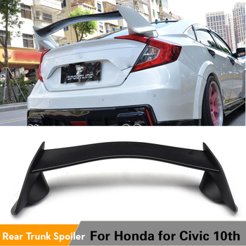 Rear Trunk Boot Race Spoiler Wing Lip for Honda for Civic 10th Generation Sedan 4-Door 2016 2017 ABS Black Car Styling