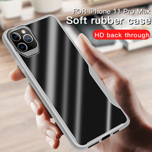 Kinh Doanh Màu Matte Giáp Trong Suốt Silicone Mềm TPU Cho iPhone 5 5S SE X XR 7 8 6 6 S Plus XS 11 Pro Max Bao Coque(China)