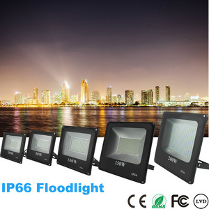 Image 2 - BUYBAY Brand LED Flood Light Outdoor reflector led 200W 100W 50W 30W Led projector light AC 220V Waterproof Floodlight exterior