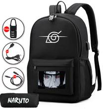 Anime NARUTO backpack 2 pcs set travel bag school bag girl boy school bag