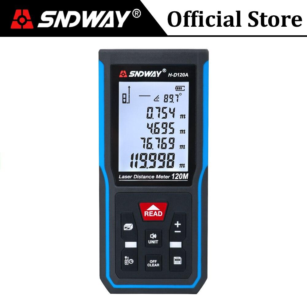 SNDWAY Laser Distance Meter Digital Range Finder Laser Distance Measure Tool Electronic Level Tape Ruler Roulette Rangefinder