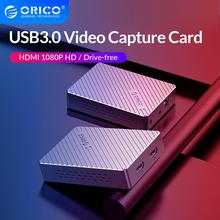 ORICO Aluminum Video Capture Card HDMI To USB3.0 HD 1080P Drive-free Record Game Live Streaming for Camera PC PS3 PS4 TV