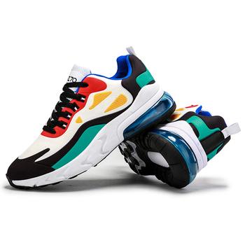 2020 męskie obuwie codzienne moda męskie buty sportowe z amortyzacją oddychające sportowe buty do biegania PU Mesh Tenis Masculino Adulto Men Shoe tanie i dobre opinie damyuan Płótno Lace-up Pasuje prawda na wymiar weź swój normalny rozmiar Podstawowe Wiosna jesień men s casual shoes