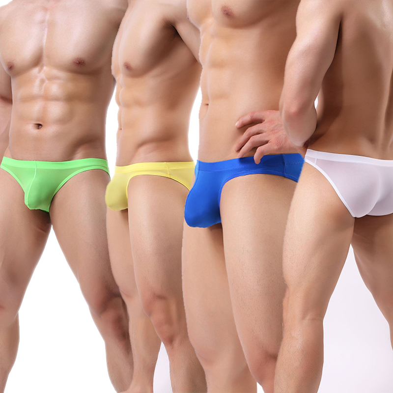 New Mens Underpants Ice Silk Seamless Briefs Underwear Breathable Bulge Panty