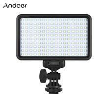 Andoer PAD160 LED Video Light 6000K 12W CRI90+ Camera Mount and CT Filter Photo Studio Camera Light for Canon Nikon DSLR Cameras
