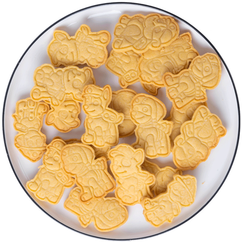 6 Pieces/set Paw Patrol Birthday Toy DIY Figure Model Cookie Cutters 3D Plastic Pressing Model Toy Children Christmas Gift