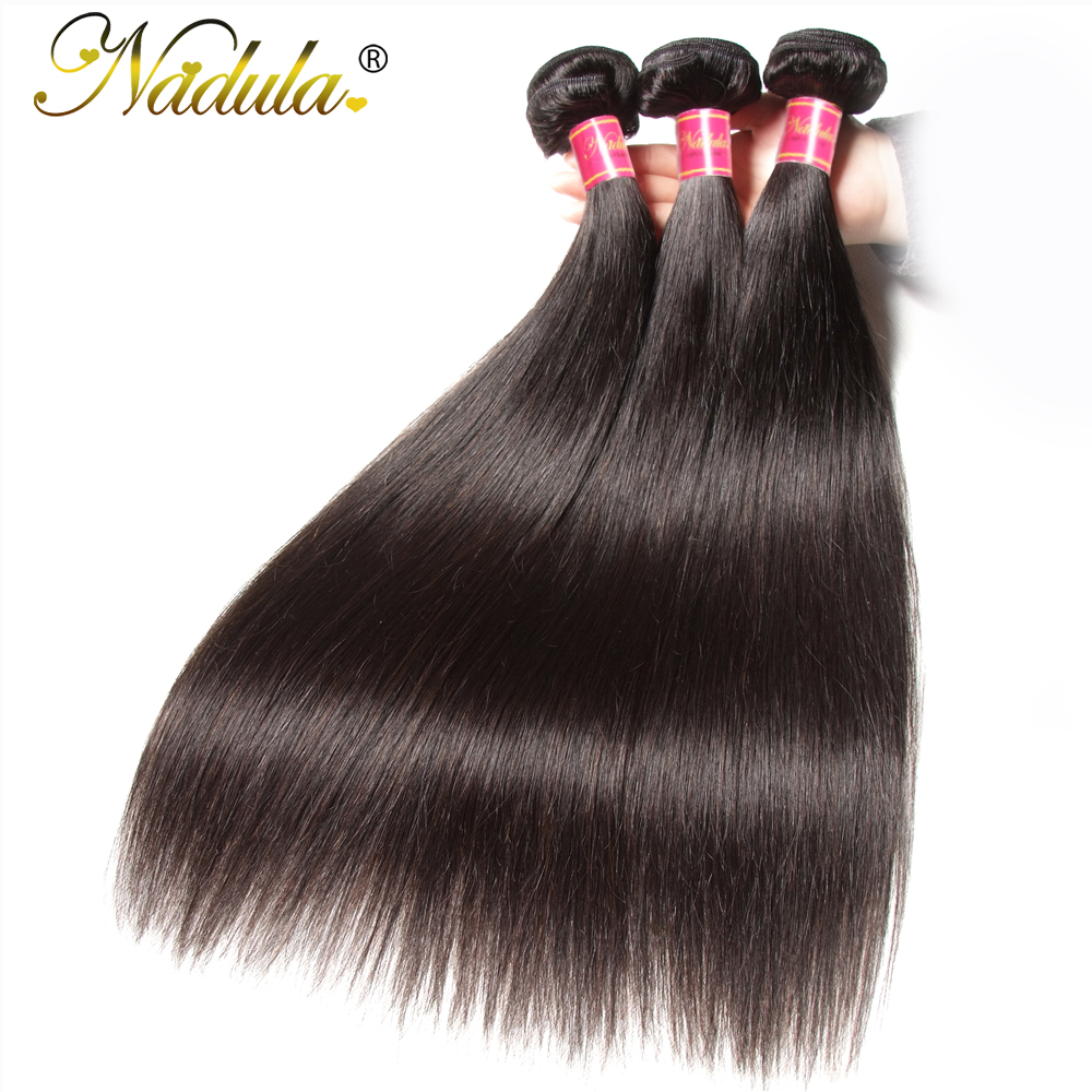 Nadula Hair 1pcs/3Bundles/4 Bundles  Straight Hair s 100%  Bundles 8-30inch 100g  Hair  2