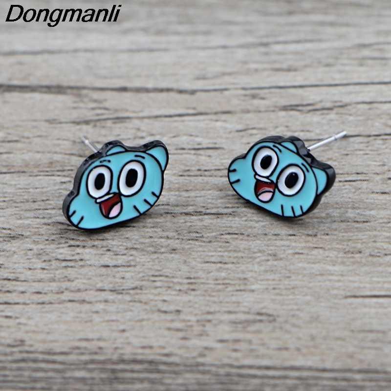 K880 1 par bonito orelha brincos para mulheres crianças esmalte pierce brincos jóias presentes para meninas