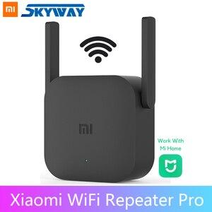Image 1 - Oryginalny Xiaomi Mi WiFi Repeater Pro US Plug 300M wzmacniacz sieciowy ekspander Router Extender Roteador 2 antena