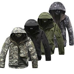 Image 1 - Lurker 상어 피부 Softshell V5 군사 전술 재킷 남자 방수 코트 위장 후드 군대 카모 의류