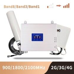 GSM 2G 3G 4G Di Tăng Áp Trị Ban Nhạc Di Động Khuếch Đại Tín Hiệu LTE Di Động Repeater GSM DCS WCDMA 900 1800 2100 Bộ