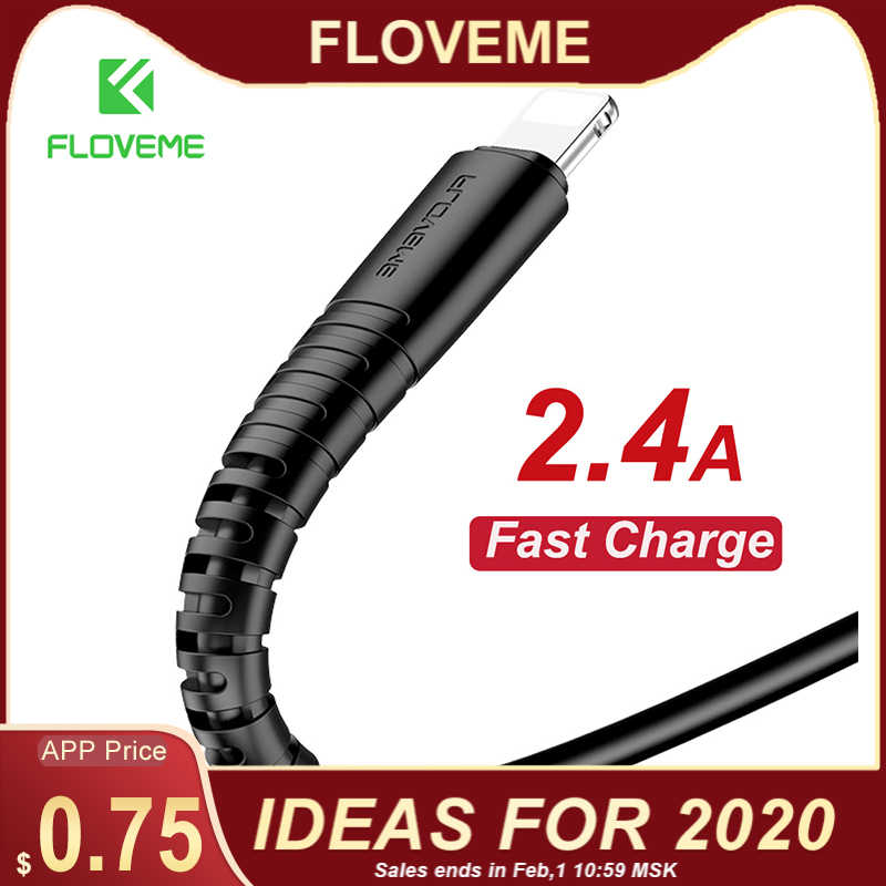 FLOVEME Cable USB Hi-tracción 0,3 m/1 m para iPhone Micro USB tipo C cargador de sincronización de datos cable para el iPhone X 9 Xs 7 más Cable de carga cable cargador movil usb tipo c for samsung s9 one plus 6 cable