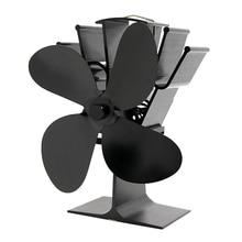 4 Blades Heat Powered Stove Fan Log Wood Burner Quiet Ecofan for Home Fireplace Safe Wood Burning Stove Eco-fan