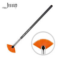 Jessup Single Makeup Brush LASH FAN High Quality Professional Fiber Hair Wooden Handle Black-Silver Eye Brush 1pcs -205