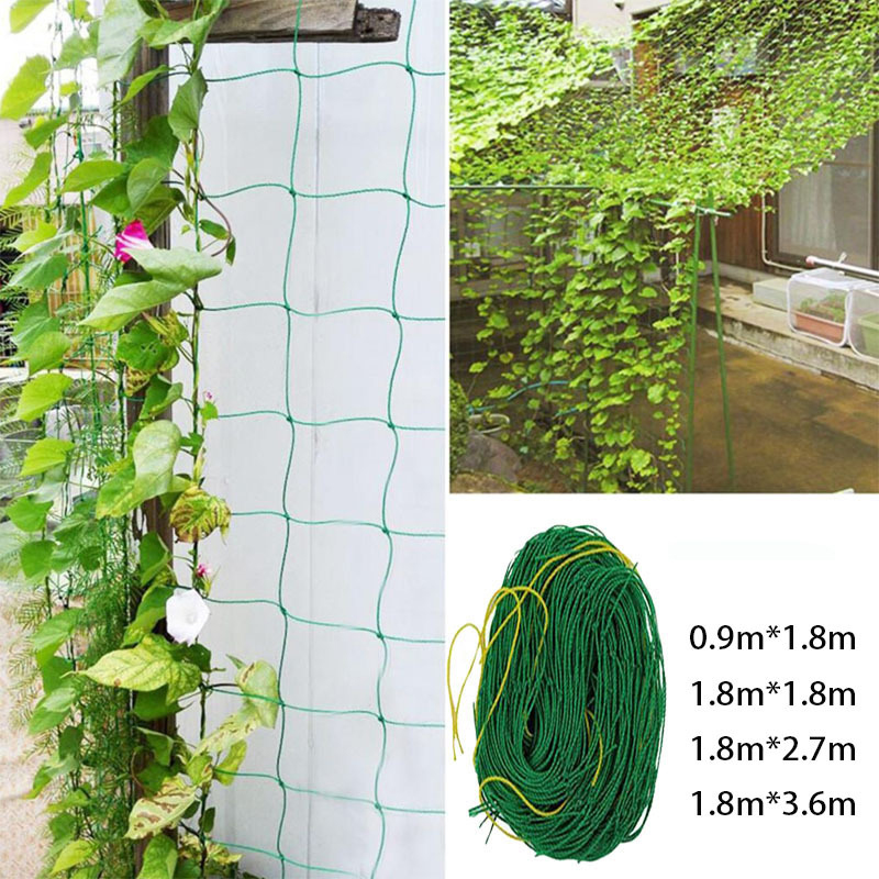 Nylon Trellis Netting Support Climbing Bean Plant Gnats Garden Grow In CeReal Vining  Vegetables/Fruits/Flowers