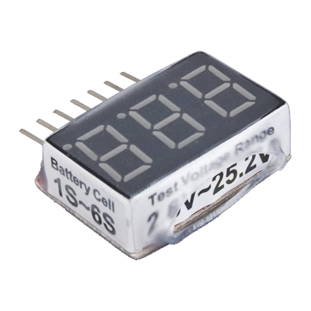 OCDAY Hot 1-6s RC 1S-6S LED Low Voltage Buzzer Alarm Lipo Battery Voltage Indicator Checker Tester Test 2.8V -25.2V