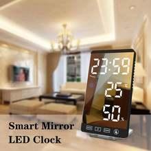 Зеркальная поверхность автоматические часы кухонный таймер многофункциональные