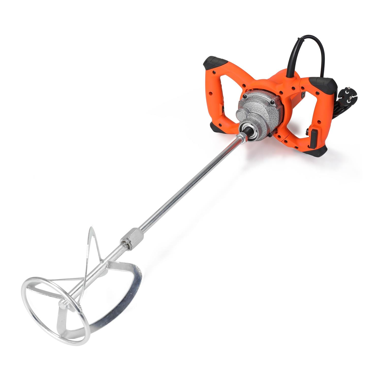 KKMOON 6 Gear Adjustable Speed Industrial Grade Mixer Handheld 2300W Paint Cement Plaster Mortar Coating Mixer Mixing Machine