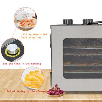 220V home use mini fruit dehydrator 6 trays food dryer