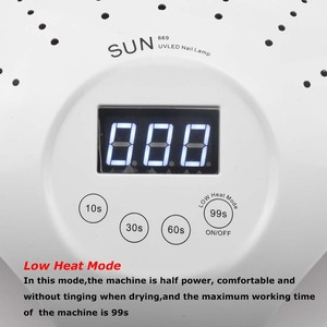 Image 3 - SUN669 48W UV LED מנורת קרח מנורות ציפורניים ג ל פולני מייבש מניקור ייבוש מכונה עבור שני ידיים עם אוהדים כל ג ל ציפורניים אמנות