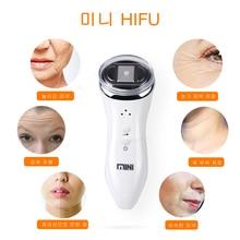 Ultrasonic RF Radio Frequency Lifting Face Neck Skin Massager Mini Hifu Anti Wrinkle Tightening Slimming Device