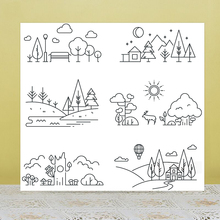 AZSG Enjoy the scenery Clear Stamps For DIY Scrapbooking/Card Making/Album Decorative Rubber Stamp Crafts azsg creek in the forest clear stamps for diy scrapbooking card making album decorative rubber stamp crafts