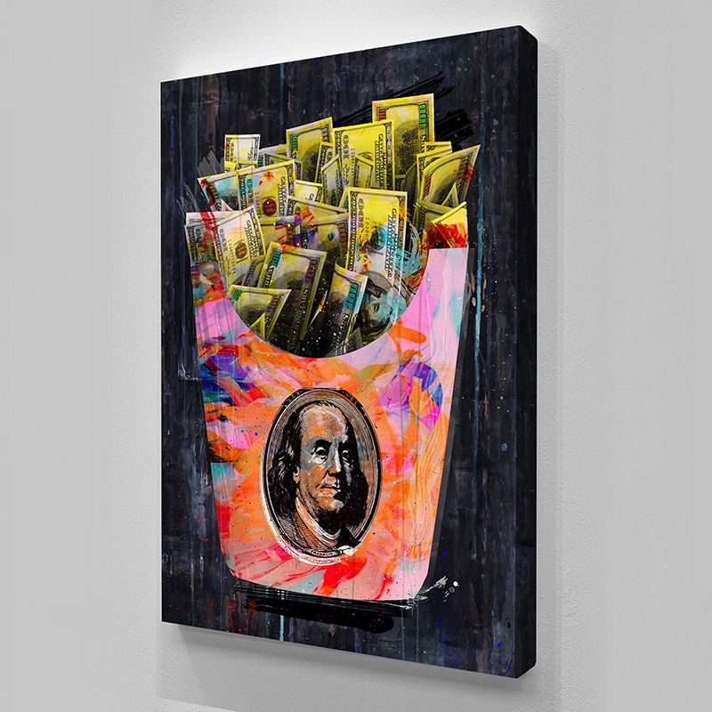 Graffiti Art Canvas Painting Abstract Money Figure Prints Wall Art Home Decor