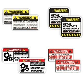Estilo de coche MINI GPS antirrobo alarma de advertencia de SEGURIDAD DEL VEHÍCULO pegatina de seguridad de coche accesorios impermeables