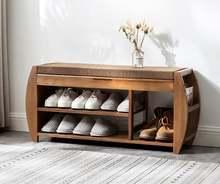 Бамбуковая подставка для обуви со съемной подушкой скрытый отсек