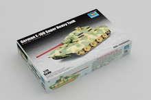 цена на Trumpeter 1/72 07121 German E-100 Super Heavy Tank Military Display Toy Plastic Assembly Building Model Kit