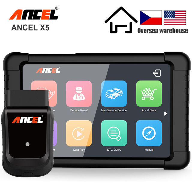 ANCEL X5 OBD2 Scanner WIFI Car Diagnostic Tool ABS SRS Oil EPB DPF Reset Full Systems OBD2 Multilingual Diagnostics Free Update