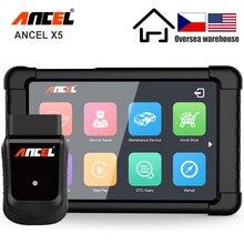 ANCEL X5 Scanner de voiture avec WIFI, outil de Diagnostic de voiture, ABS SRS, EPB, DPF, réinitialisation complète du système OBD2, multilingue, mise à jour gratuite
