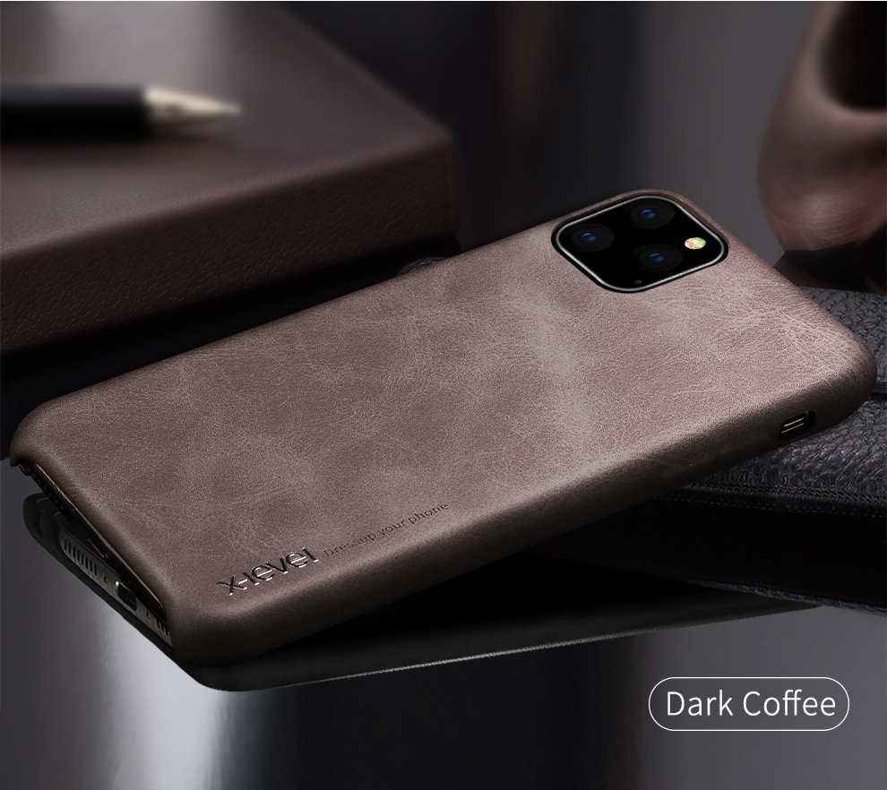 H59bab88c203743229007ba85540a9239H X-Level Leather Case For iPhone 11 Pro Max Luxury Ultra Light Retro Back Phone Cover For iPhone 11 Pro Case Coque iPhone11