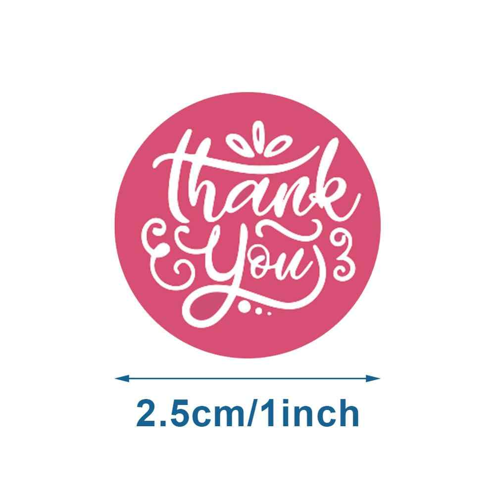 ملصقات مستديرة 1 بوصة شكرا لك تسميات اليدوية 500 قطعة لكل بكرة شريط لاصق الزفاف حفلة عيد الميلاد هدية التعبئة والتغليف 8 تصميم