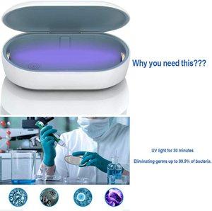 УФ дезинфицирующее средство для смартфона стерилизатор Ультрафиолетовый-чистая коробка для дезинфицирующих средств чехол для телефона оч...