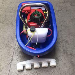4T stroke gas boat water pump irrigation digging lotus pump, petrol boat pump,gasoline engine power water pump
