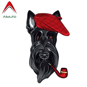 Aliauto Personality Car Sticker A Dog with A Cap Modelling Cover Scratch Decal Waterproof Sunscreen PVC for BMW X6 X5,9cm*15cm image