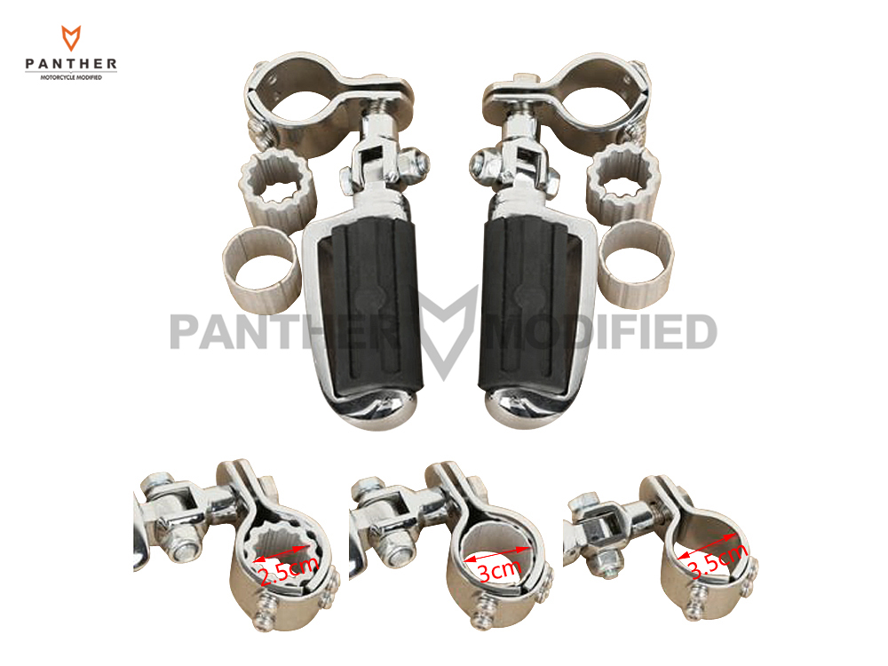 25mm-35mm Motorcycle Footrest Foot Pegs Support Clamps Case For SUZUKI VL1500 800 125 250 VS1400 YAMAHA XV250 KAWASAKI VN400