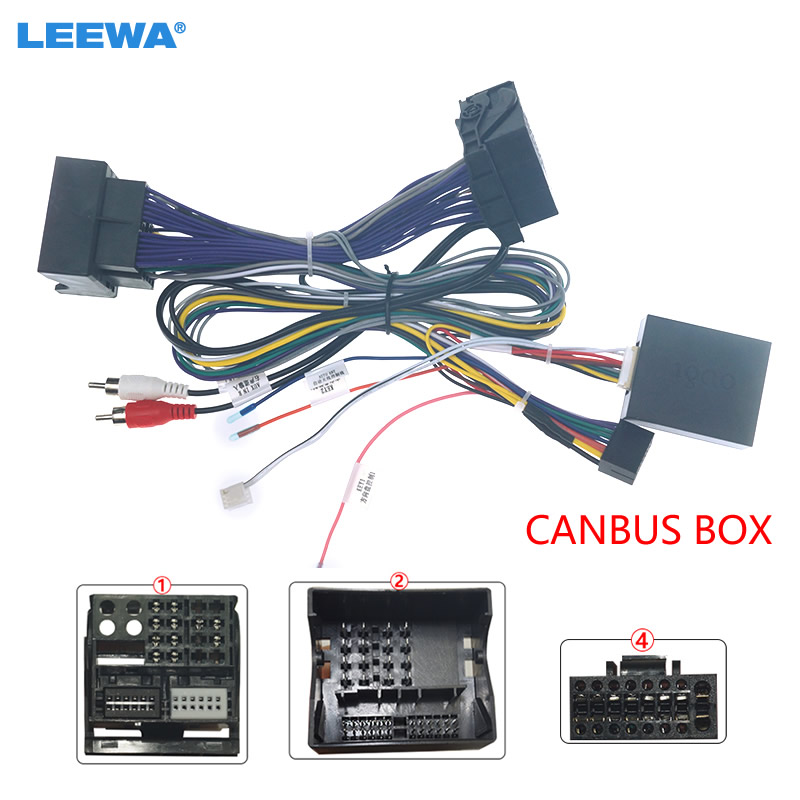 LEEWA Car Audio 16PIN Android Power Cable Adapter With Canbus Box For Mercedes Benz C Class C180/C200 CD/DVD Wiring Harness|Cables, Adapters & Sockets|   - AliExpress