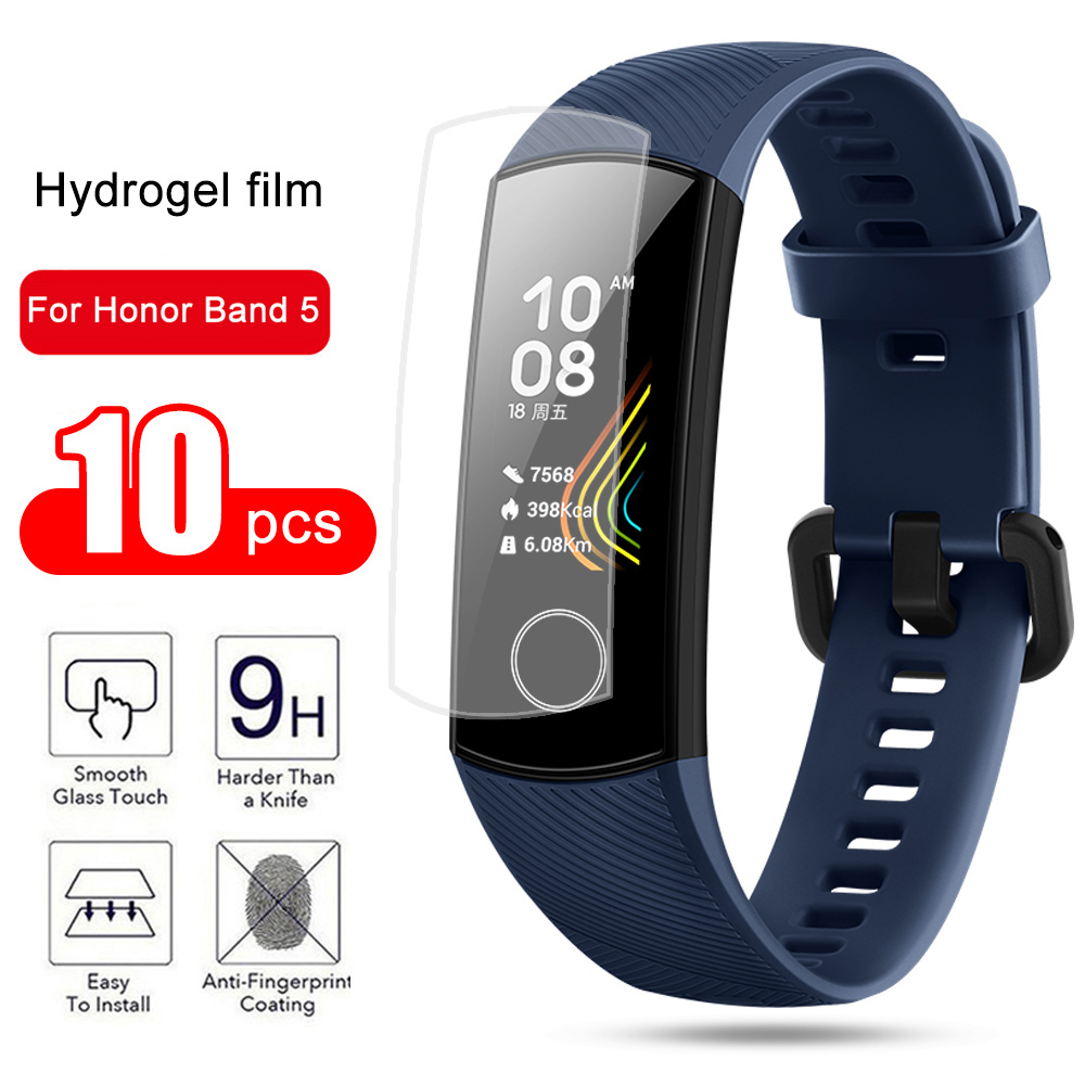 Honor Band 5 Screen Protector For Huawei Honer Honor 5 4 Strap Soft Hydrogel Armor Protection Film Onor Xonor Band5 Band4 Cover