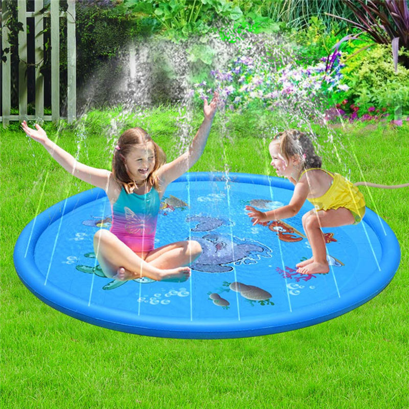 Summer Children'S Baby Play Water Mat Games Beach Pad Inflatable Spray Water Cushion Outdoor Tub Swiming Pool Water Cushion Toys
