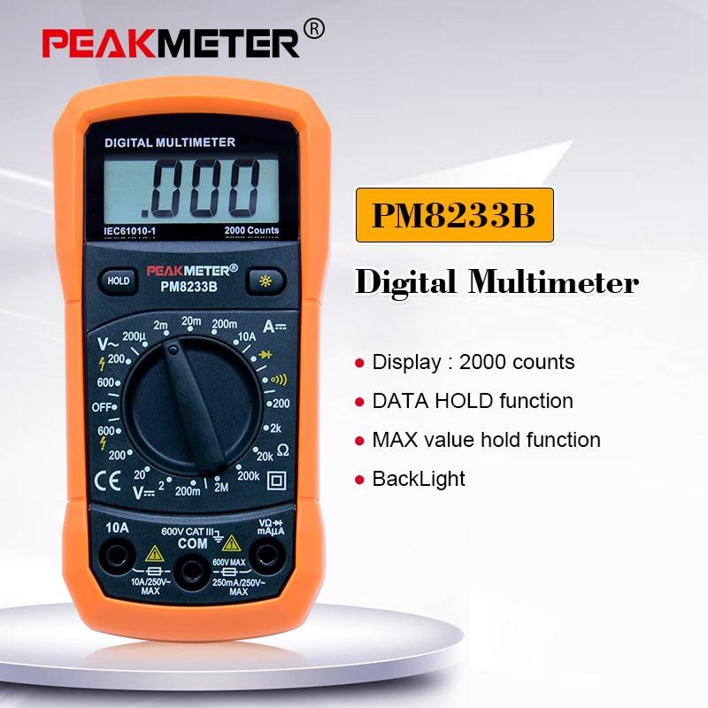 PEAKMETER PM8233B Professional Digital Multitester LCR Meter Multifunction Mini Digital Multimeter/Back Light Multimetro