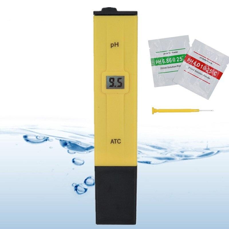 20pcs lot Pocket Pen Water PH Meter Digital Tester PH-009 IA 0 0-14 0pH for Aquarium Pool Water Laboratory