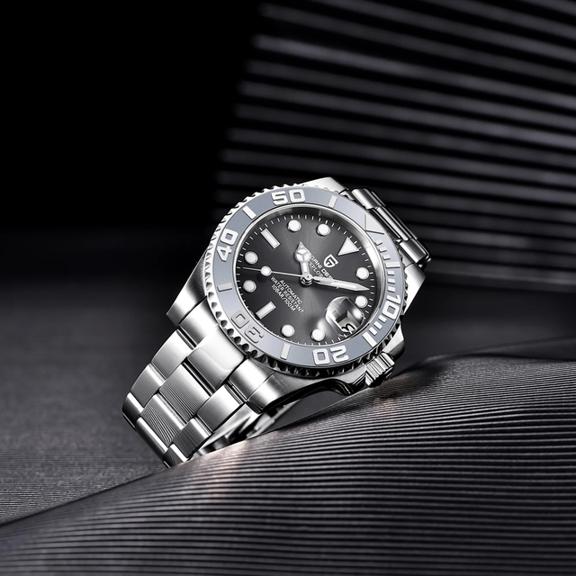 Pagani design relógio de luxo safira relógio de pulso mecânico marca superior relógio automático aço inoxidável à prova dwaterproof água 100m relógios masculinos