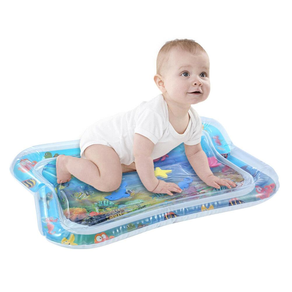 Lovely Inflatable Baby Water Mat Infant Tummy Time Play Mat Toddler Fun Activity Play Center For Sensory Stimulation Motor Skill